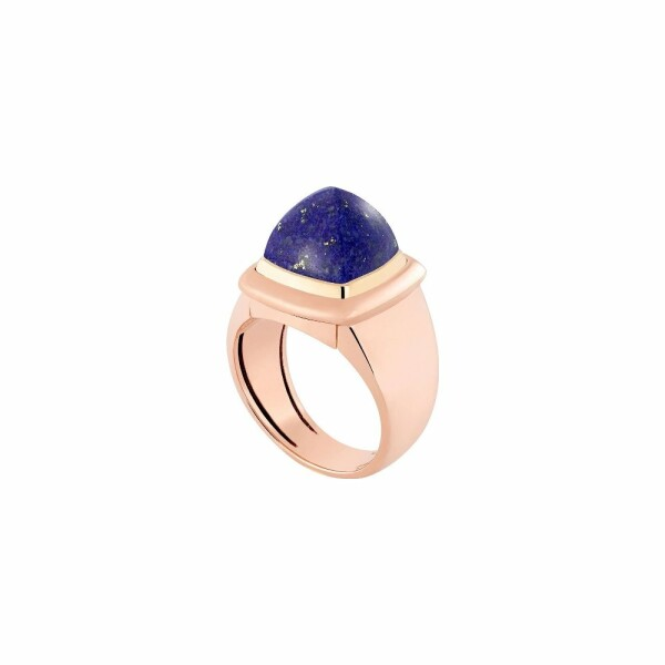 Bague interchangeable FRED Pain de sucre en or rose, or jaune, lapis lazuli