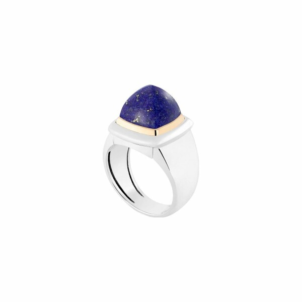 Bague interchangeable FRED Pain de sucre en or blanc, or jaune, lapis lazuli