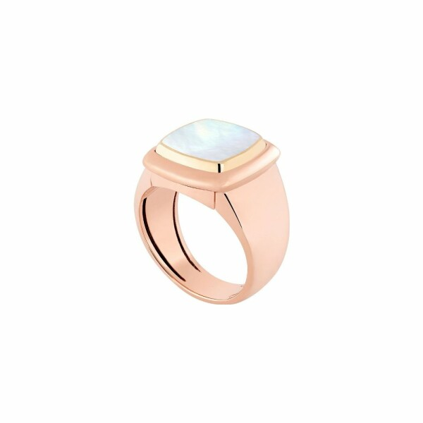 Bague interchangeable FRED Pain de sucre en or rose, or jaune, nacre blanche