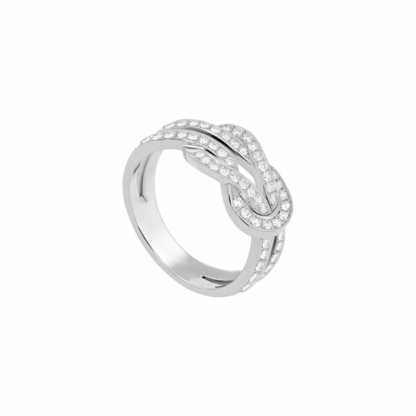 Bague FRED 8°0 en or blanc et diamants