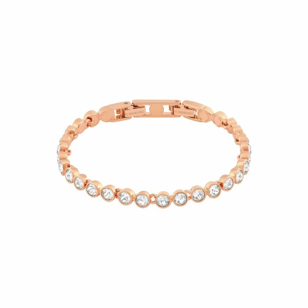Bracelet Swarovski Tennis en plaqué or rose et cristaux Swarovski