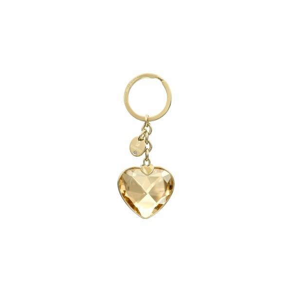 Accessoire de sac Swarovski New Heart en plaqué or jaune et cristaux Swarovski