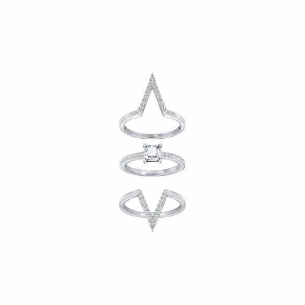 Bague Swarovski Funk en cristaux Swarovski et acier rhodié, taille 52