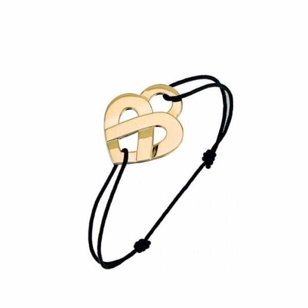 Bracelet Poiray Coeur Entrelacé  en or jaune