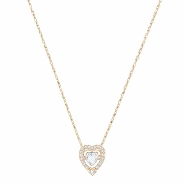Collier Swarovski Sparkling Dance Heart en cristaux Swarovski et plaqué or rose