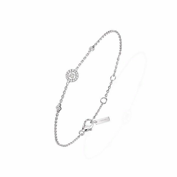 Bracelet Messika Joy XS en or blanc et diamants