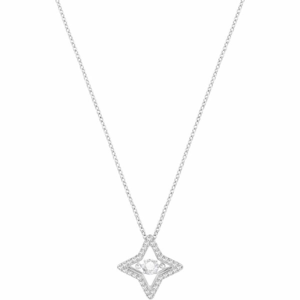 Collier Swarovski en acier rhodié et cristaux Swarovski