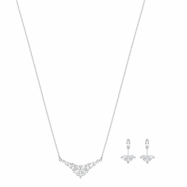 Parure Swarovski Lady en cristaux Swarovski et acier rhodié