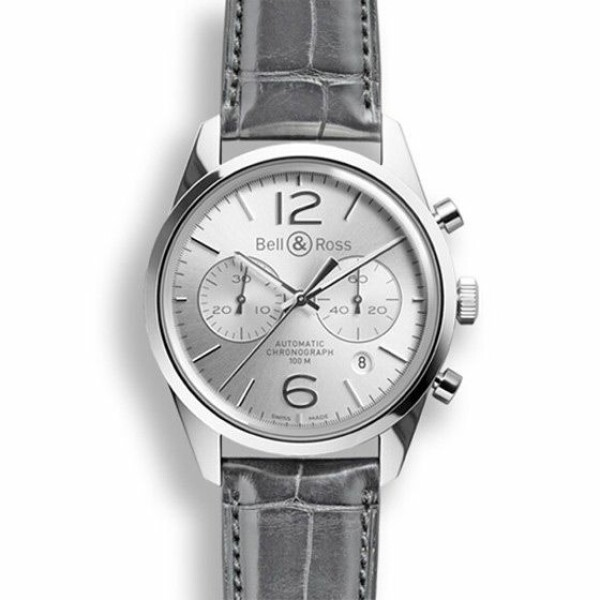 Montre Bell & ross Vintage br Br 126 officer silver
