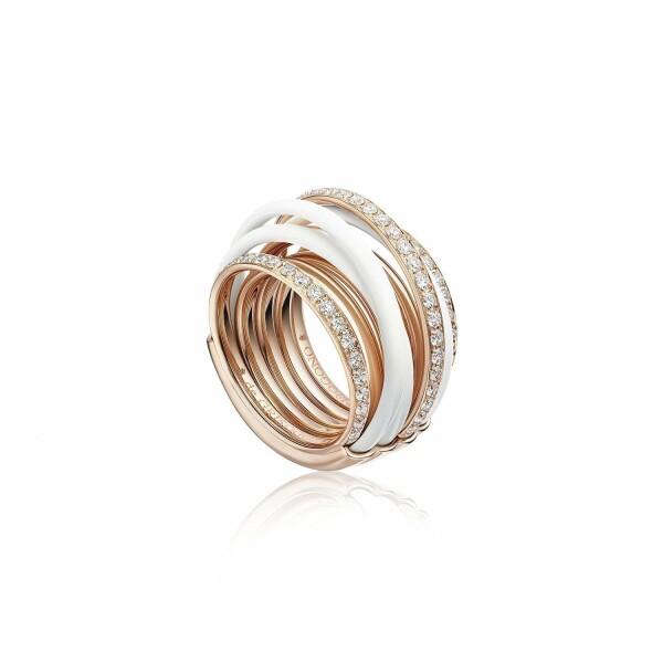 Bague de GRISOGONO Allegra en or rose, diamants et ceramique