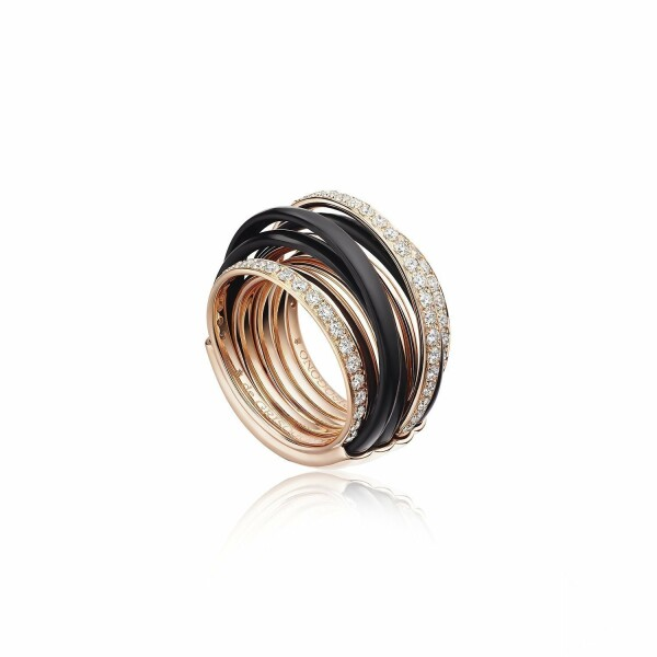 Bague de GRISOGONO Allegra en or rose, diamants et ceramique