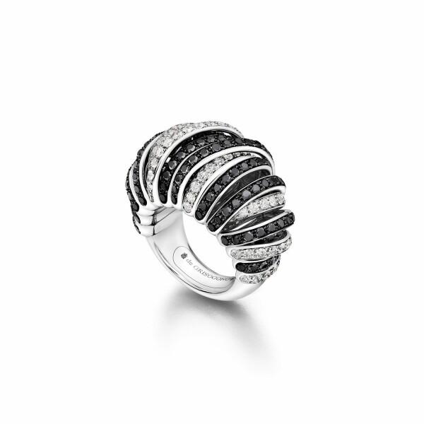 Bague de GRISOGONO Allegra en or blanc, diamants et diamants noirs