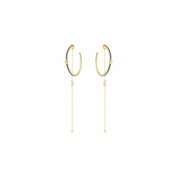 Boucles d'oreilles Swarovski Symbolic Moon en plaqué or jaune et cristaux Swarovski