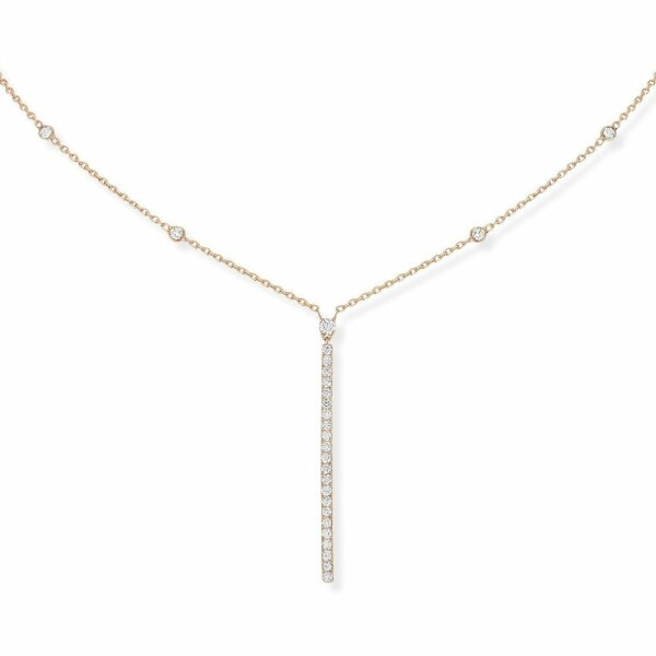 Collier Messika Gatsby en or rose et diamants