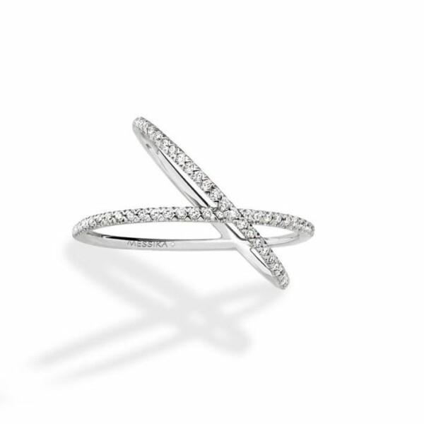 Bague Messika Gatsby Croisée en Or blanc et Diamant