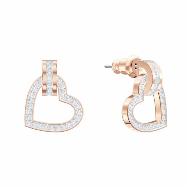 Boucles d'oreilles Swarovski Lovely en cristaux Swarovski et plaqué or rose