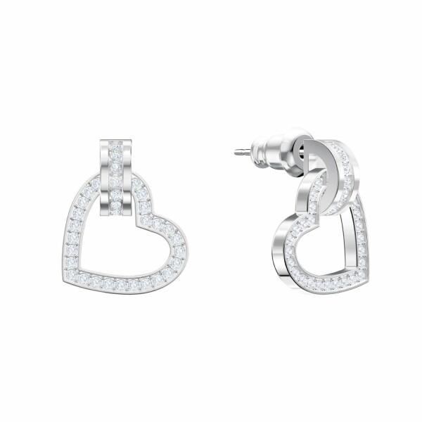 Boucles d'oreilles Swarovski Lovely en cristaux Swarovski et en acier rhodié