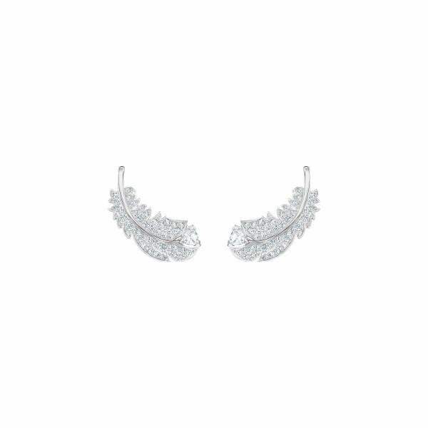 Boucles d'oreilles Swarovski Nice en acier rhodié et cristaux Swarovski