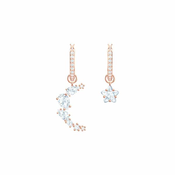 Boucles d'oreilles Swarovski Penélope Cruz Moonsun en plaqué or rose et cristaux Swarovski