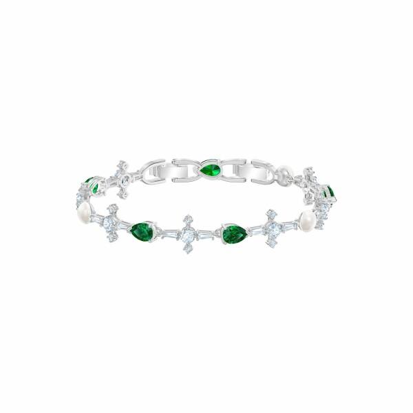 Bracelet Swarovski Perfection en acier, rhodium et cristaux Swarovski