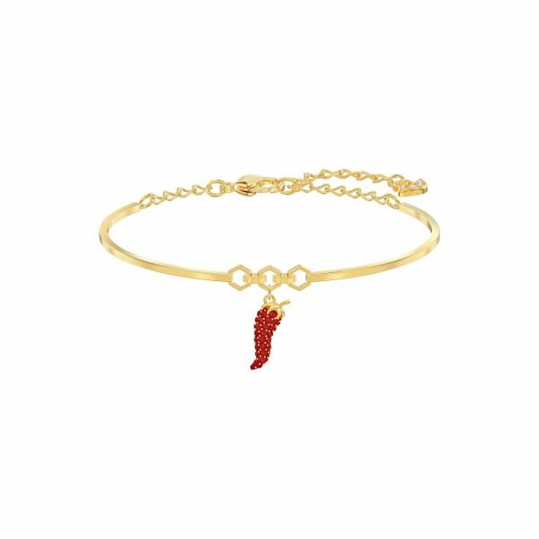 Bracelet Swarovski Lisabel Pepper en plaqué or jaune et cristaux Swarovski