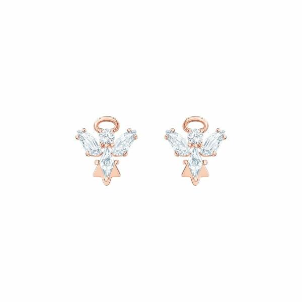 Boucles d'oreilles Swarovski Magic Angel en plaqué or rose et cristaux Swarovski