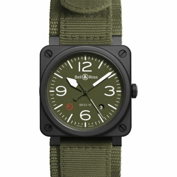 Montre Bell & ross Aviation br 03 Br 03-92 military type