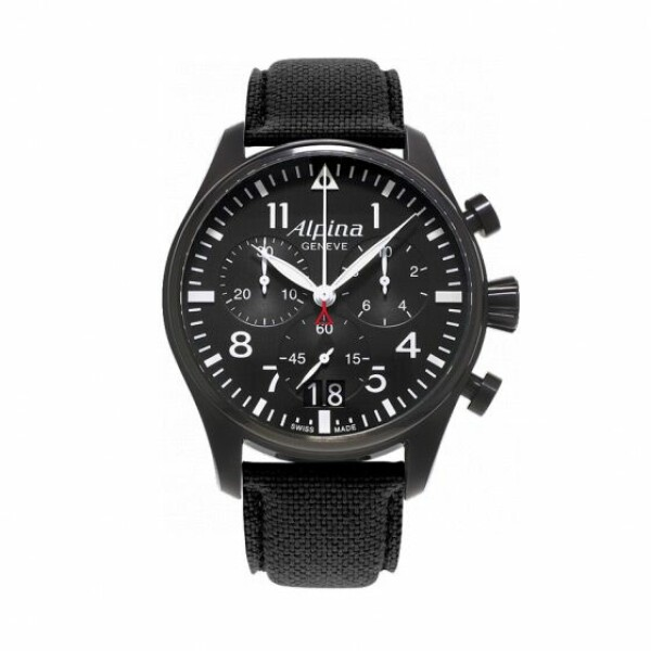 Montre Alpina Startimer Pilot chronograph big date black