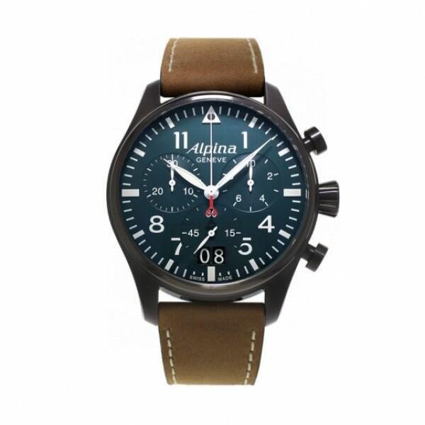 Alpina Startimer Pilot chronograph big date black