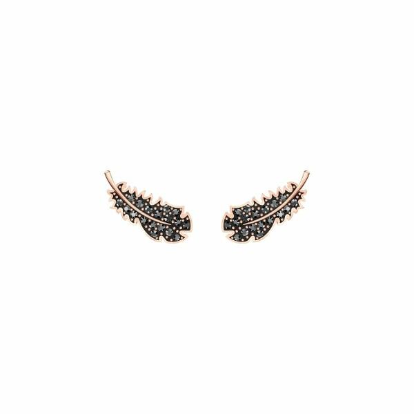 Boucles d'oreilles Swarovski Naughty en plaqué or rose et cristaux Swarovski