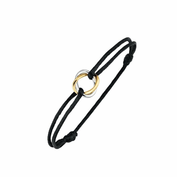 Bracelet Poiray Tresse  en or jaune et or blanc