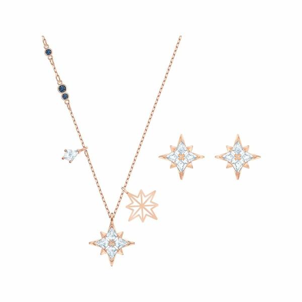 Parure Swarovski Symbolic Star en plaqué or rose et cristaux Swarovski