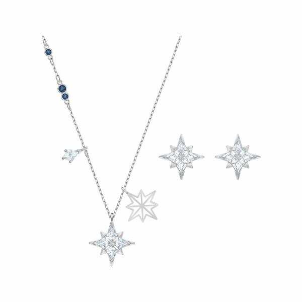 Parure Swarovski Symbolic Star en acier, rhodium et cristaux Swarovski