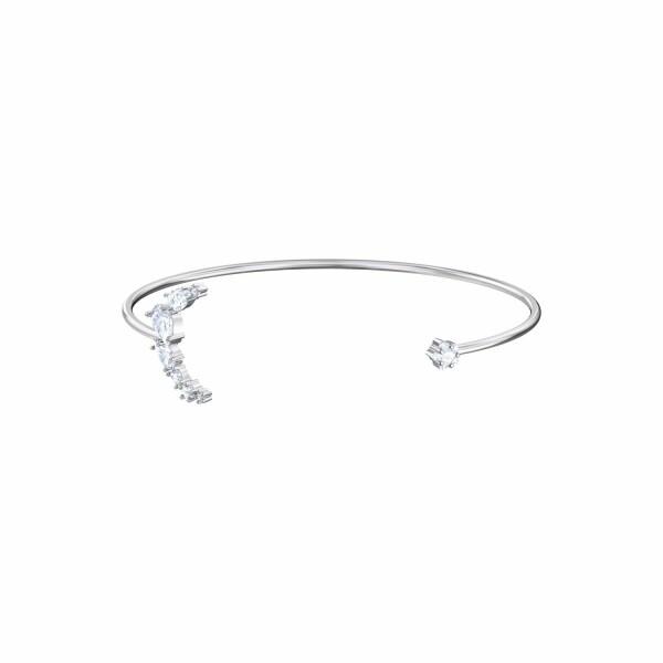 Bracelet manchete Swarovski Penélope Cruz Moonsun en acier, rhodium et cristaux Swarovski