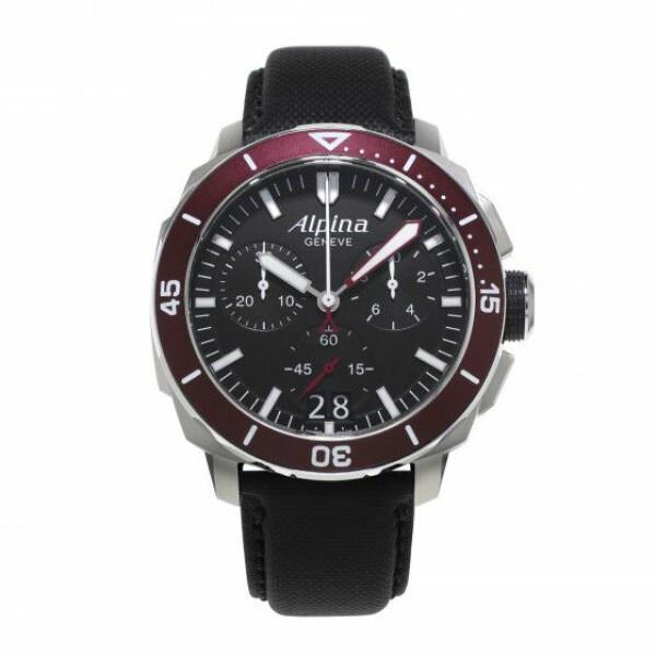 Montre Alpina Seastrong Diver 300 chronographe grande date