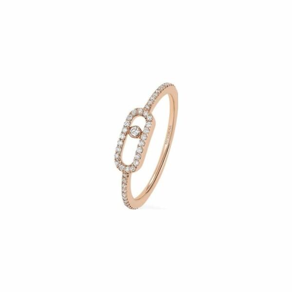 Bague Messika Move Classique en or rose et diamants