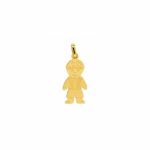 Pendentif petit garçon en or jaune