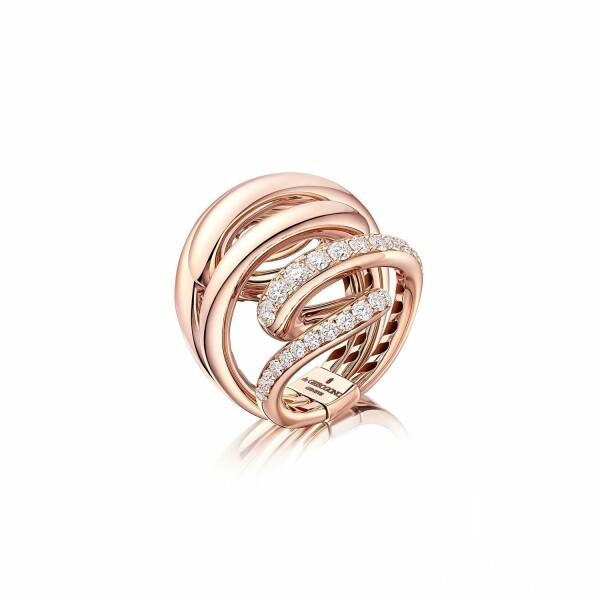 Bague de GRISOGONO Vortice en or rose et diamants