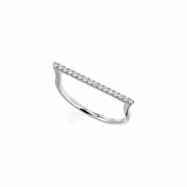 Bague Messika Gatsby en or blanc et diamants