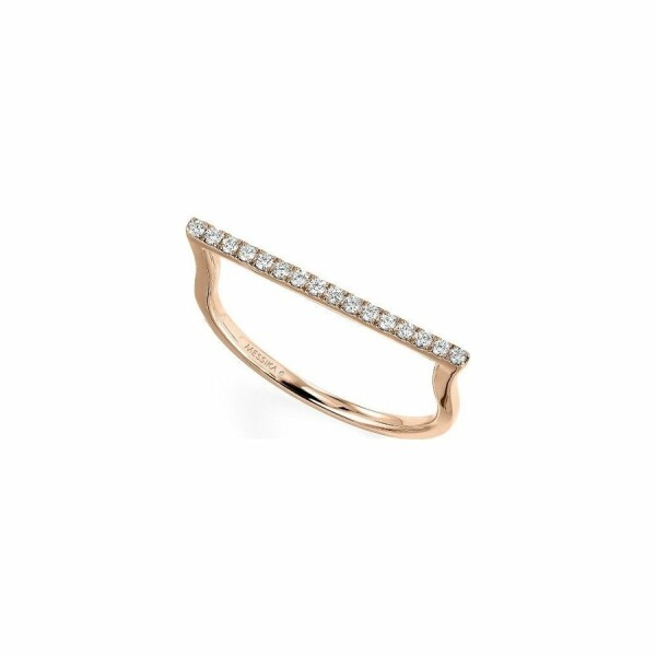 Bague Messika Gatsby en or rose et diamants