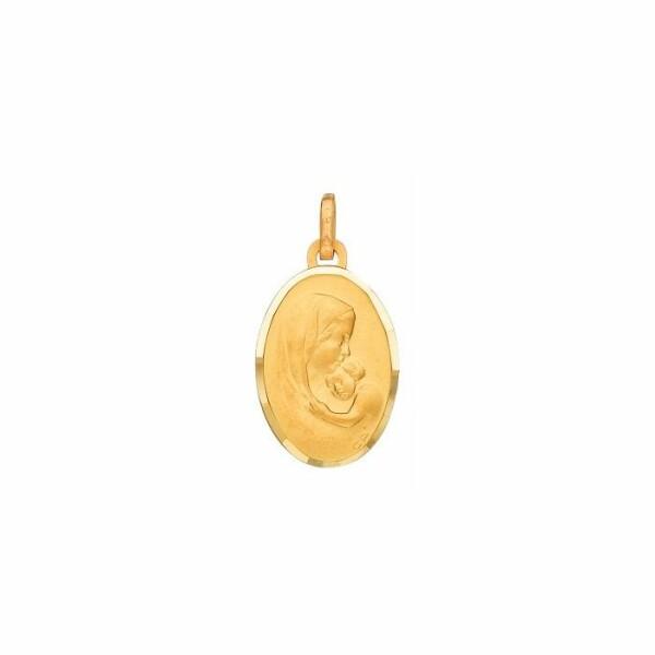 Médaille Vierge à l'enfant en or jaune