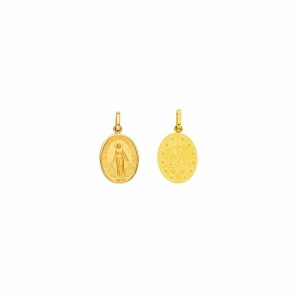 Médaille Vierge miraculeuse en or jaune