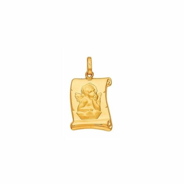 Médaille parchemin Ange en or jaune