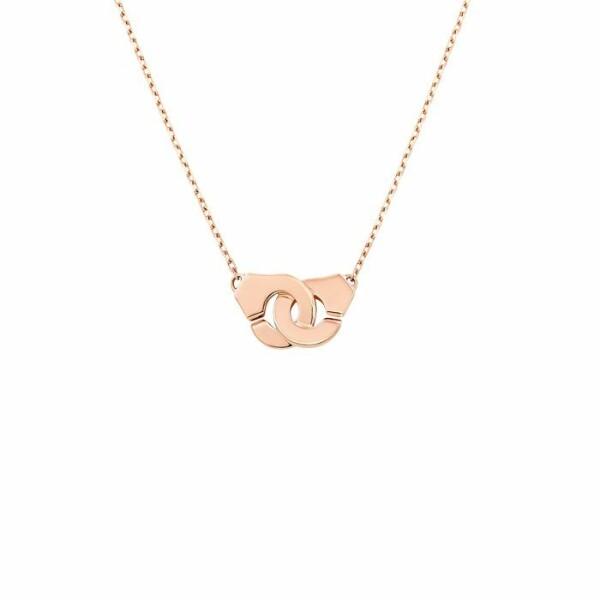Collier dinh van Menottes dinh van chaîne forçat R8 en Or rose