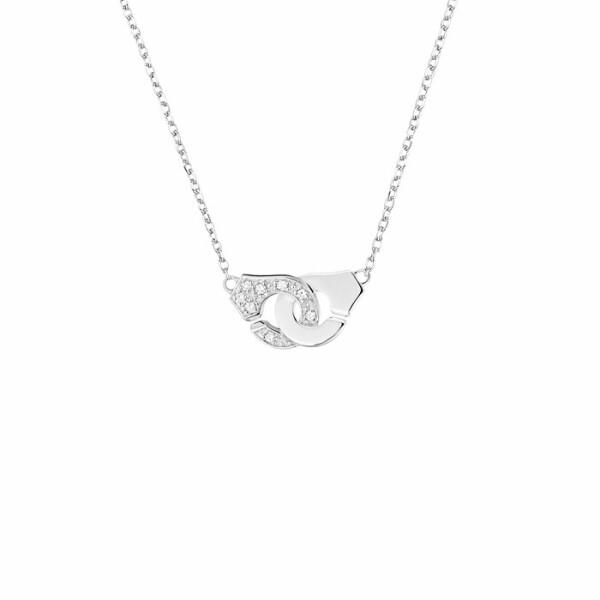 Collier dinh van Menottes dinh van R8 en Or blanc et demi Diamant