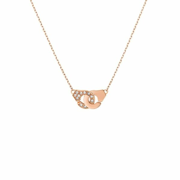 Collier dinh van Menottes dinh van R8 en or rose et diamants