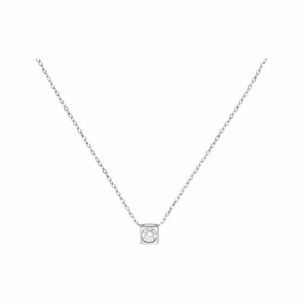 Collier dinh van Le Cube Diamant en or blanc et diamant