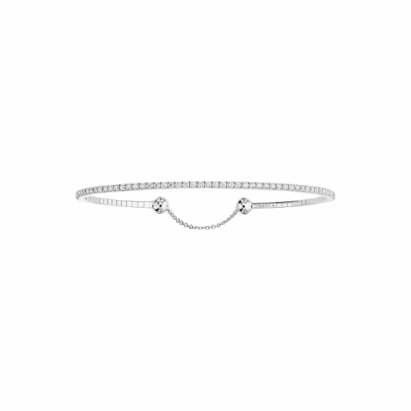 Bracelet Messika Skinny en or blanc et diamants