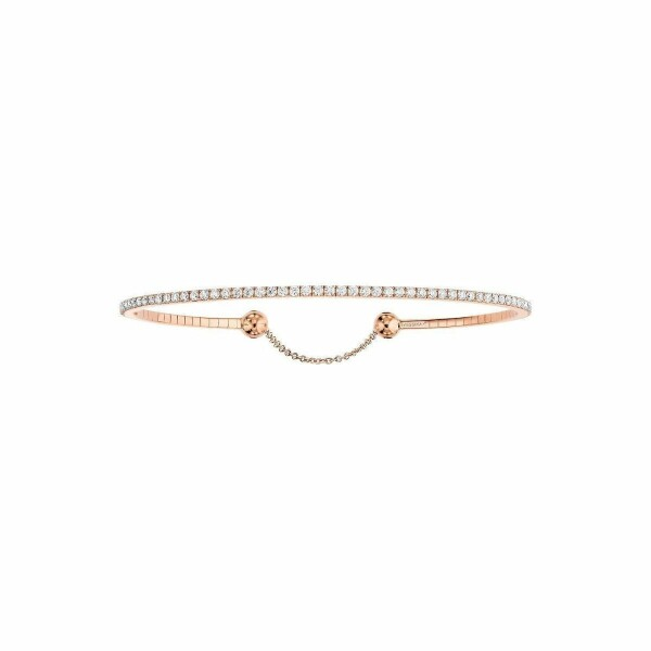 Bracelet Messika Skinny en or rose et diamants