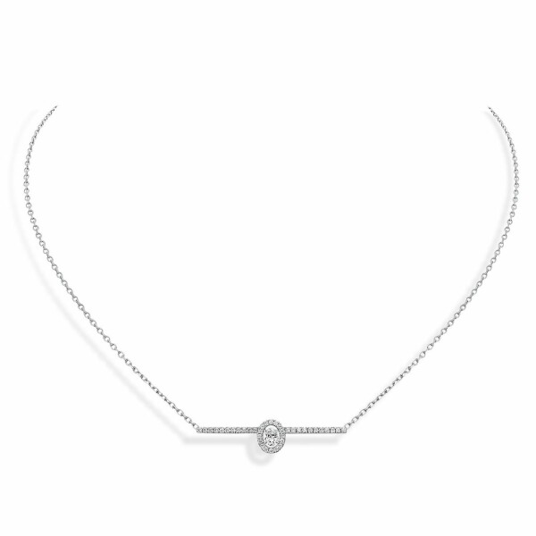 Collier Messika Glam'Azone pavé en or blanc et diamants